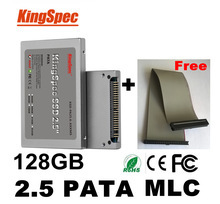 "Kingspec 44pin 2.5"" pata ssd 128gb MLC 4-Channel hd ssd ide Solid State Disk Flash Drive Hard Drive ASUS A6JC, A8JA M9A HP V2000(China (Mainland))"