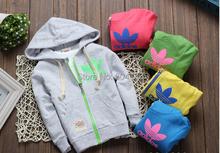 Novo  moda Design miudos meninos camisas das criancas Top Zipper Hoodies jaqueta da menina idade 2-5 gratis frete(China (Mainland))
