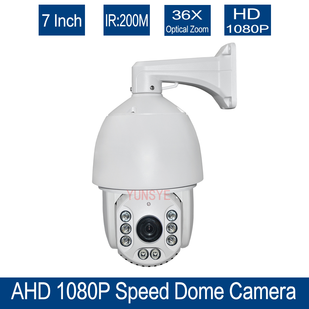 Free shipping 36x Optical Zoom CCTV HD 1080P 7 inch High Speed Dome AHD PTZ Camera Outdoor Nightvision IR 150M AHD CAMERA 1080P(China (Mainland))