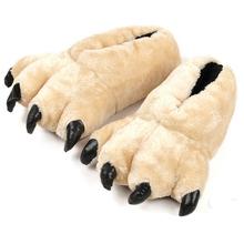 2016 New Brand Men Bear Paw Fuzzy Slippers Short Plush Pantufa Women Leopard Indoor Home Slippers Chinelo Pantufas De Pelucia(China (Mainland))