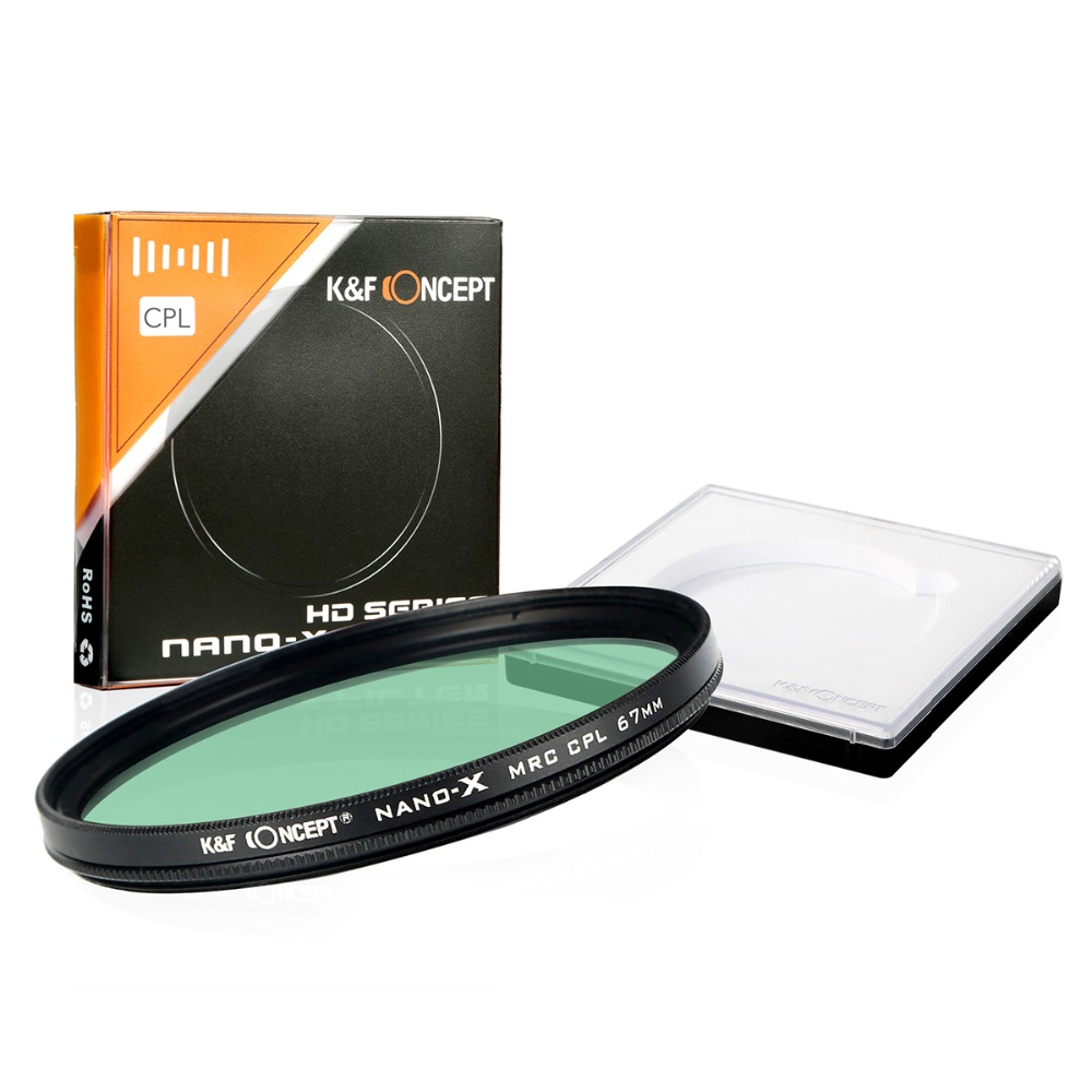 K&amp;F Concept 67mm MRC-CPL Ultra Slim HD MC Multi-Coated SCHOTT Glass Polarizing Filter for Canon NIkon Hoya Sony Camera Lens<br><br>Aliexpress