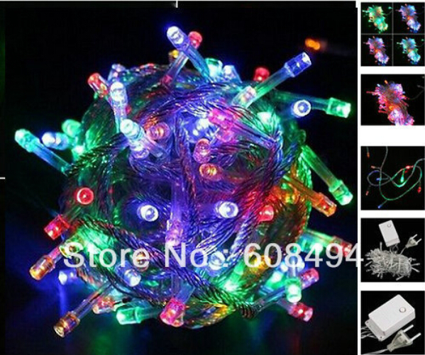 30M 200 LED Fairy Party Wedding Christmas String Lights Garland Xmas decoration 8 sparkling modes 220V EU Mixed color colorful - ShenZhen Oh-Box Information Technology Co., Ltd. store