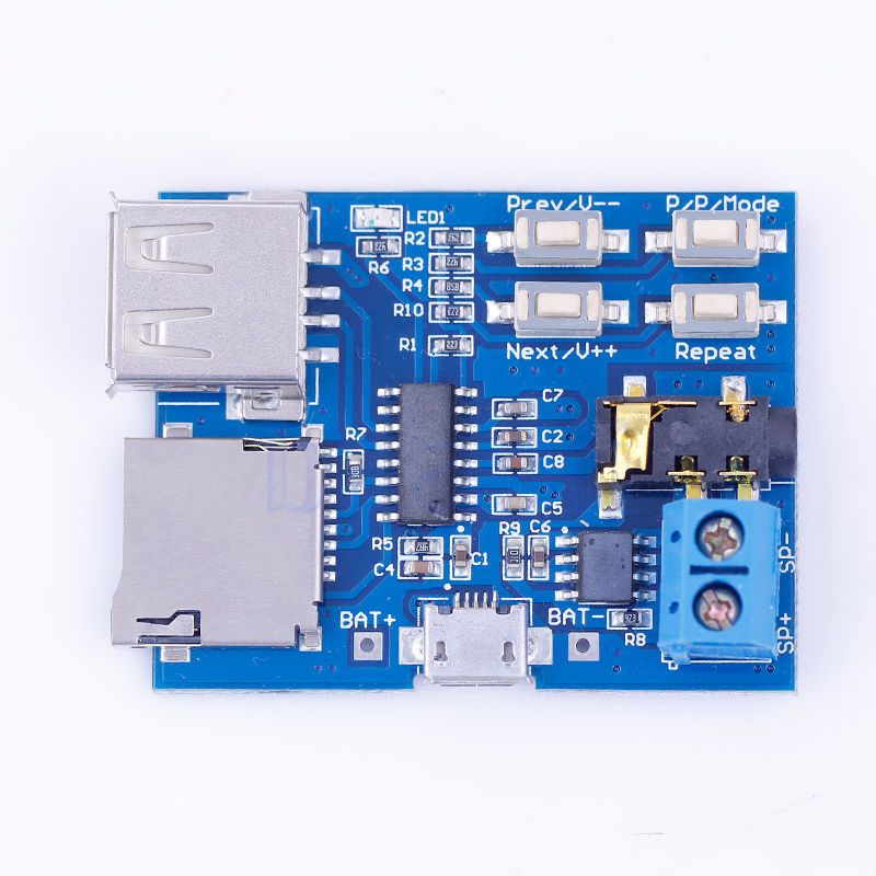 TF card U disk MP3 Format decoder board amplifier decoding audio Player module(China (Mainland))