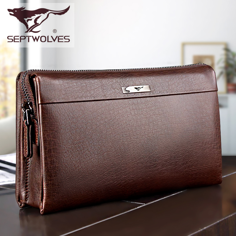 Super High Quality! Genuine Leather wallet men brand male clutch man commercial bag men wallets famous brand carteira masculina(China (Mainland))