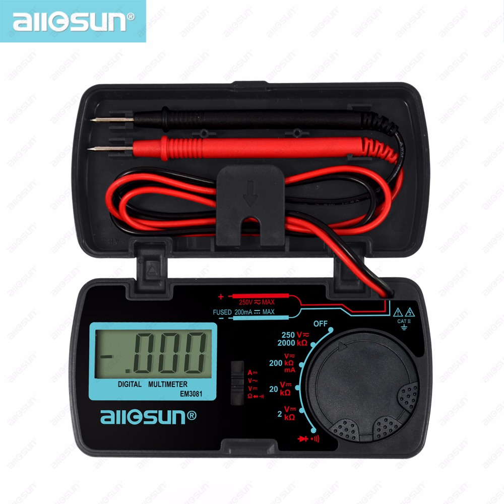 all-sun EM3081 Autorange digital multimeter 3 1/2 1999 low battery indication overload protection MULTIMETER automotive tester(China (Mainland))