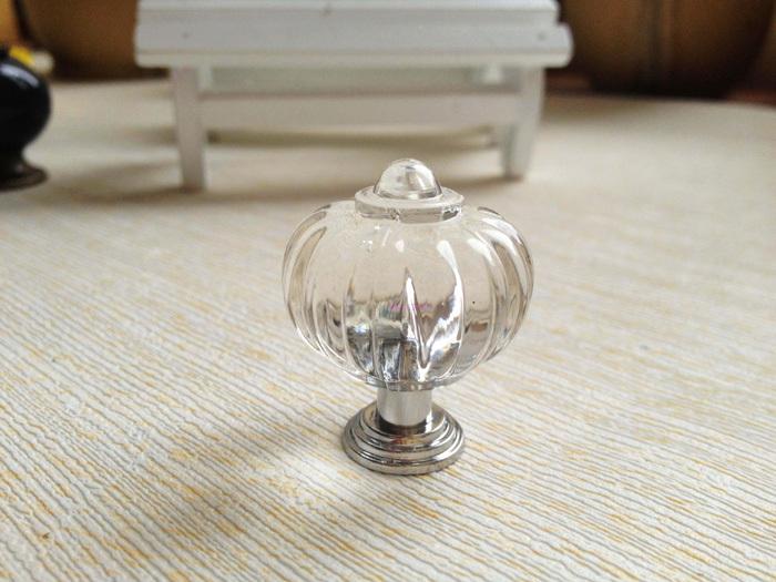 20Pcs Clear Crystal kitchen Cabinet Knobs And Handles Dresser Cupboard Door Acrylic Knob Pulls pumpkin shape(China (Mainland))