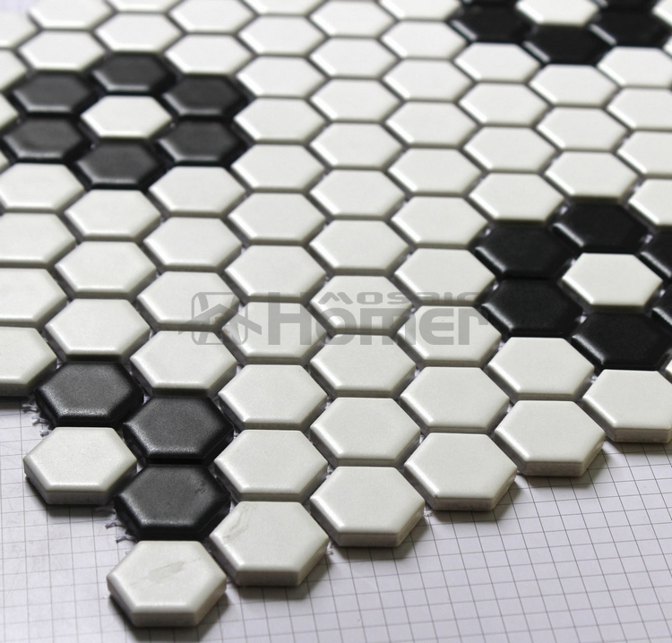 Metrotegels Keuken Kopen : Black and White Hexagon Floor Tile