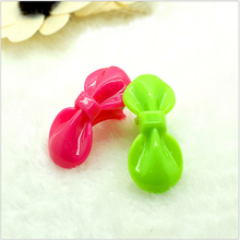 Fashion 20Pcs Cute Girls Kids Bow Hair Clips Candy Red Random Color Barrettes Resin Hairpins Boutique