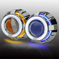 3 inch bi xenon Double angel eyes use H1 xenon Bulb Projector Lens Kit with H1