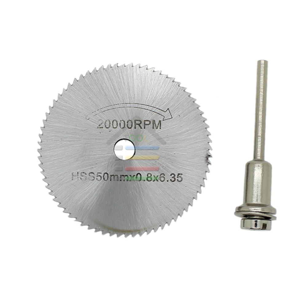 50mm HSS Rotary Circular Saw Blades Steel Cutting Disc Cut Wheel Dremel 1/8 inch Mandrel - AUTOTOOLHOME Store store