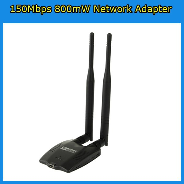 150Mbps Ralink3070 High Power 1000MW Long Range Wireless-N WiFi Network Adapter with High Senitivity Clipper Dual Antennas