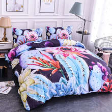 ZEIMON Home Textile Plant Cactus Bedding Set Duvet Cover Set And Pillowcase 2/3pcs Twin Queen King Size Bedding Sets(China)