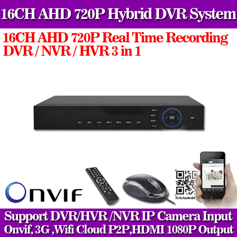 16ch AHD 720P 960H 25fps recording720P AHD 960H Completed 4CH Video DVR/NVR/HVR Security Camera System for ip camera HI3531 DVR(China (Mainland))