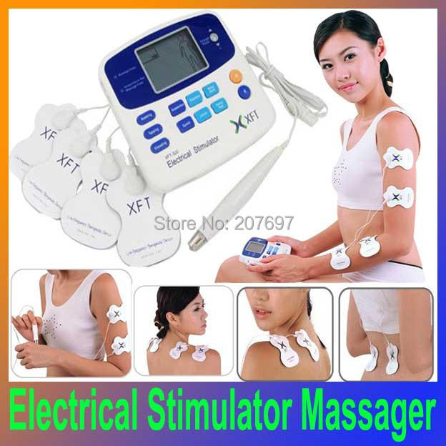 Health care beauty DUAL TENS MACHINE DIGITAL MASSAGE ACCUPUNCTURE PEN Low Frequency Therapeutic Electrical Stimulator Massager(China (Mainland))