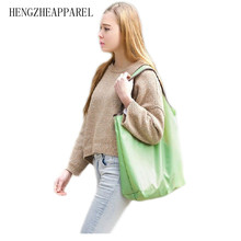 Durable Multifunctional Handbag Pure Color Folding Reusable Promotional Bags shopping bag Home Storage Supplies Accessories(China (Mainland))