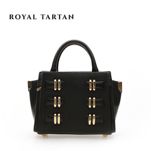 ROYAL TARTAN women leather handbags luxury tote bag genuine leather shoulder bags brand designer handbag women messenger bags