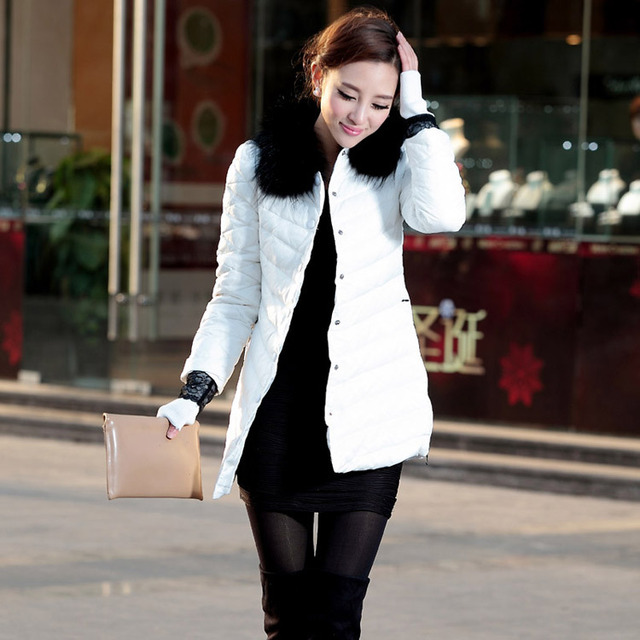 Free shipping 2013 winter new arrival slim fur collar thick single breasted women's down coats 0221071332