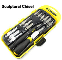 Free shipping new 14 PCS sculptural chisel set ,SK5,carving knife wholesaler