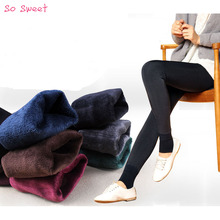 Winter Knitting Free shipping HOT SALE 2015 winter new High elastic thicken lady's Leggings warm pants skinny pants for women (China (Mainland))