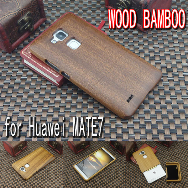 Genuine Natural Real Bamboo Wood Hard Cover Case Huawei MATE7 Back cover cases huawei Mate7 Phone shell - mike lye's store