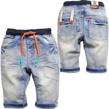 3629 soft summer de kids jeans denim casual pants boys's girls's capris shorts 70% cents denim trousers solid