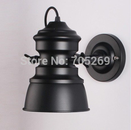 country style old fashion led wall light lamp E27 bulb inside retro iron industry - Rose store