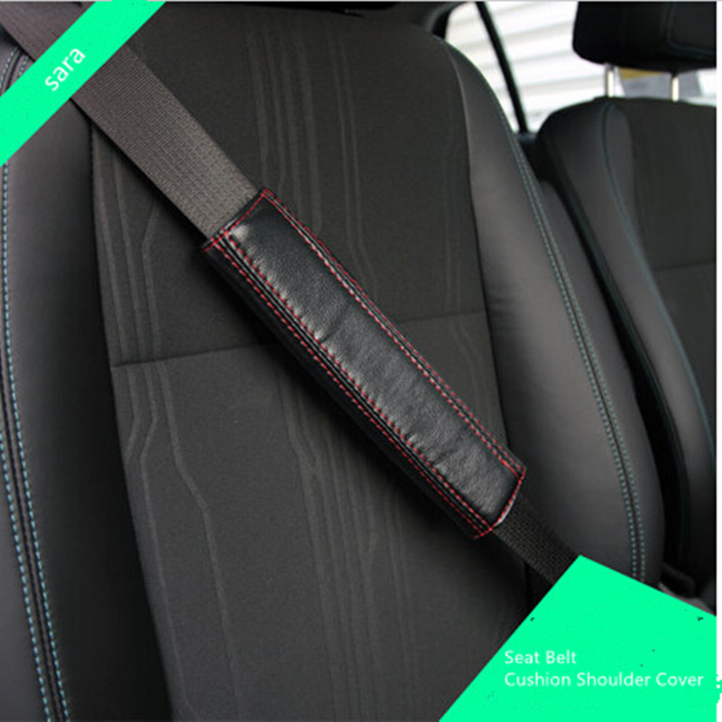 Seat Belt Cushion Shoulder Cover Pads PU leather Interior Auto accessories for any car<br><br>Aliexpress