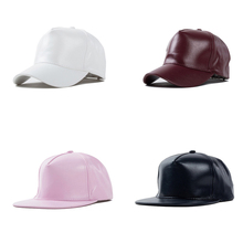 New Baseball caps faux leather hat flat style diamond design sun caps brand for men & women outdoor wholesale(China (Mainland))