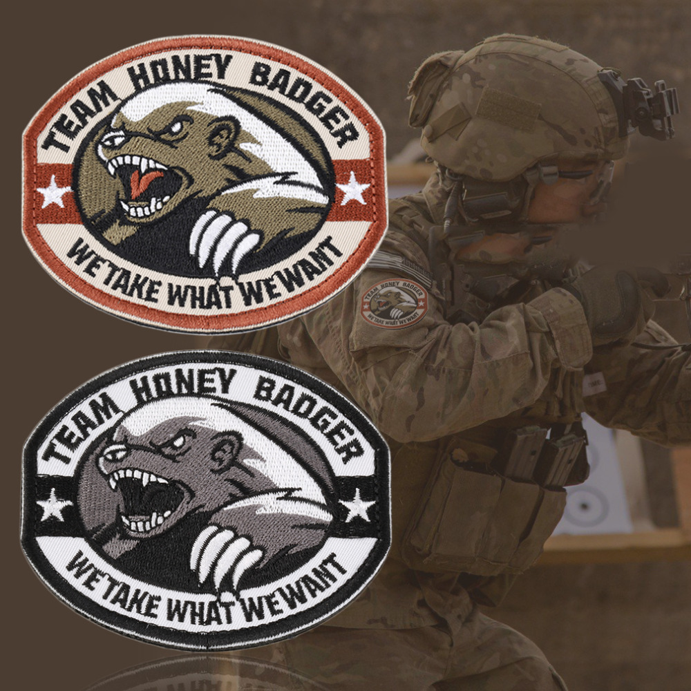 New Team Honey Badger Military Tactical Army Morale Combat Multicam Patch(China (Mainland))