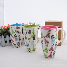zakka wind manufacturers supply large capacity seal cup drink Nordic fairy tale series