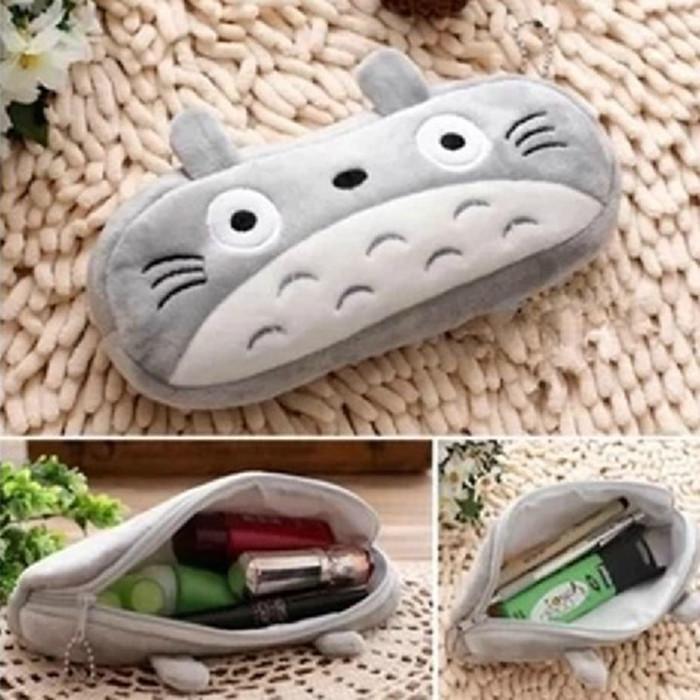 trousse scolaire Soft Plush Cartoon Totoro Pencil Case Pencil Bag Cute Pen Case Pencil Pouch Stationery Trousse estuche escolar(China (Mainland))