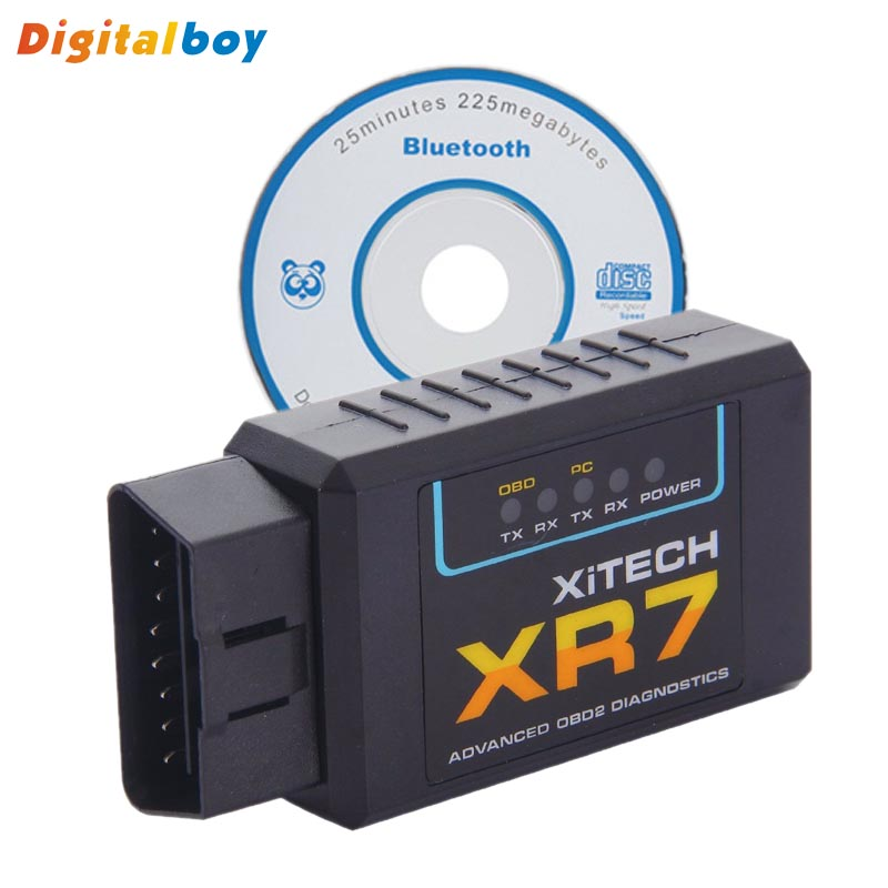 ELM327 XR7 Interface Bluetooth OBD2 OBDII Scan Tool ELM 327 V1.5 CAN-BUS Diagnostic Scanner Tool(China (Mainland))