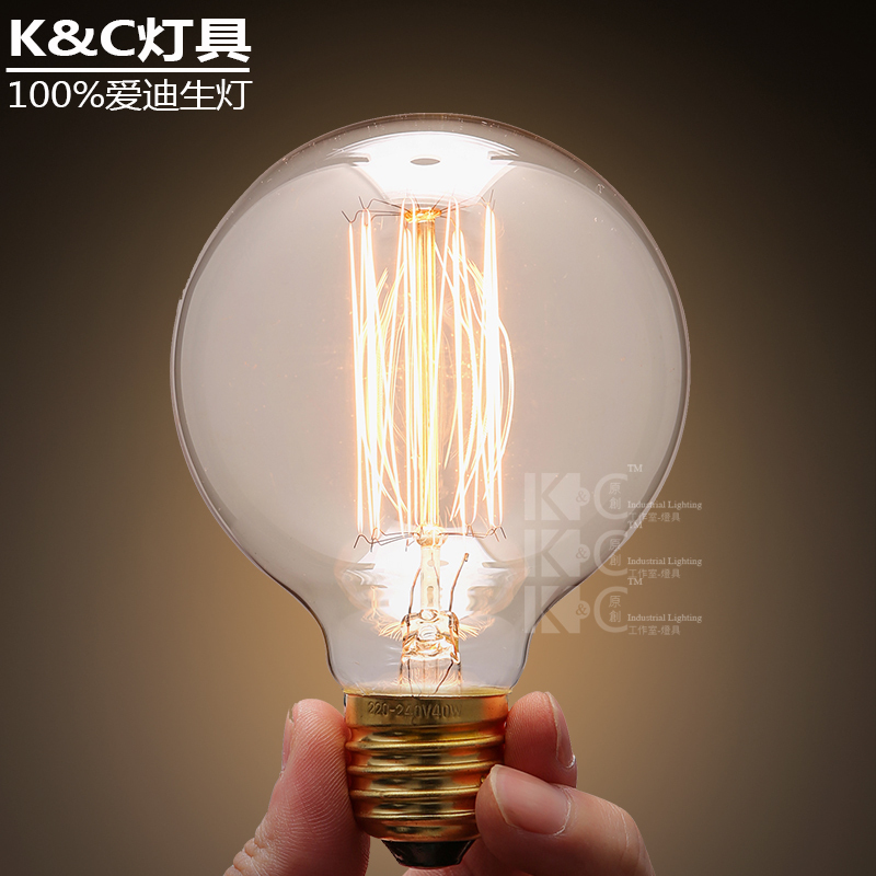 kc creative personality tungsten lamps Edison bulb e27 screw retro art 95 asparagus industry sources(China (Mainland))