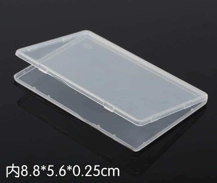 100PCS plastic box PP-5 Storage Collections Container Box for VIP card bank card ID card packing box Product packaging(China (Mainland))
