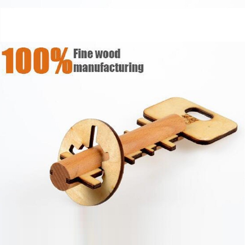 2016 Hot 2 Set Creative Wooden Keys Ming Lock Unlock Toys Child Educational Toys Exploring Ability Developing Early Learning Toy(China (Mainland))