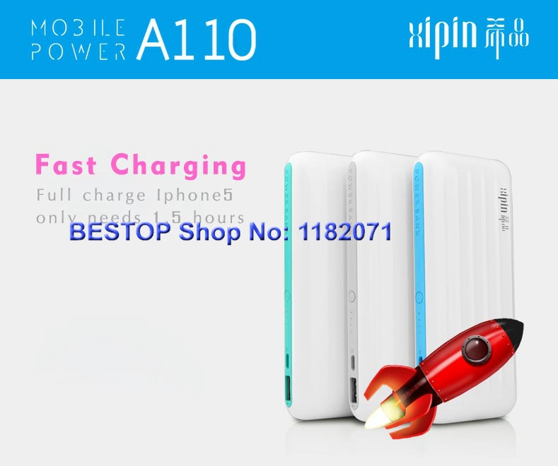 Portable li battery faster charger real 11000mah external battery power bank for samsung iphone 6 5s free shipping(China (Mainland))