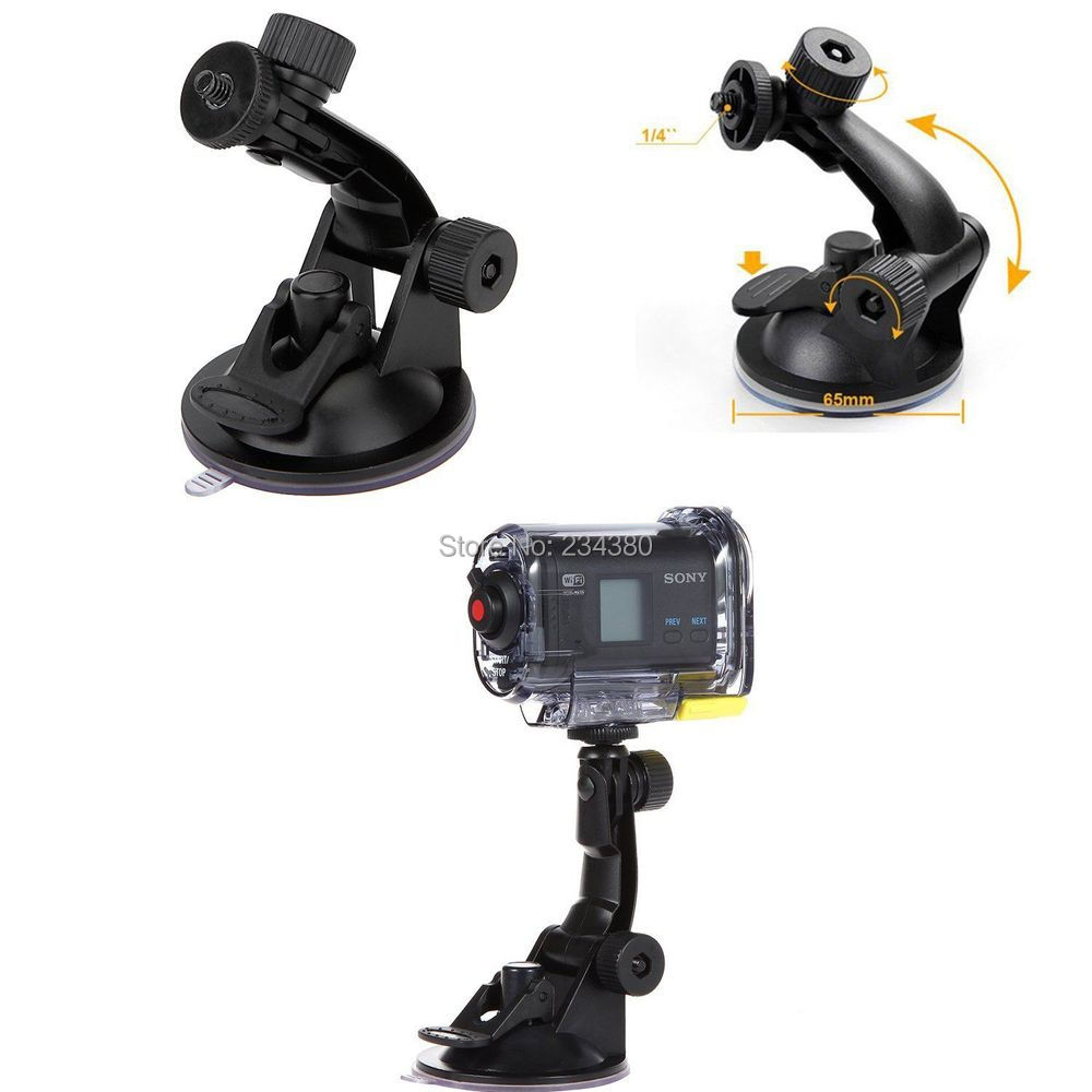 Free shipping + tracking number  Car Suction Cup Mount   Kit for Sony Action Cam HDR-AS15/AS20/AS30V/AS100V/AS200V/AZ1<br><br>Aliexpress