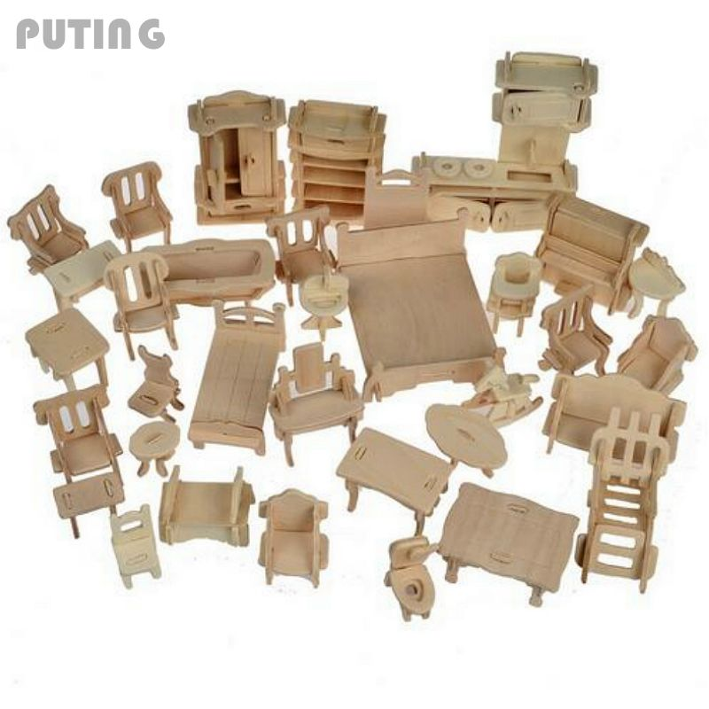 Popular modern dollhouse furniture sets buy cheap modern dollhouse furniture sets lots from Dollhouse wooden furniture
