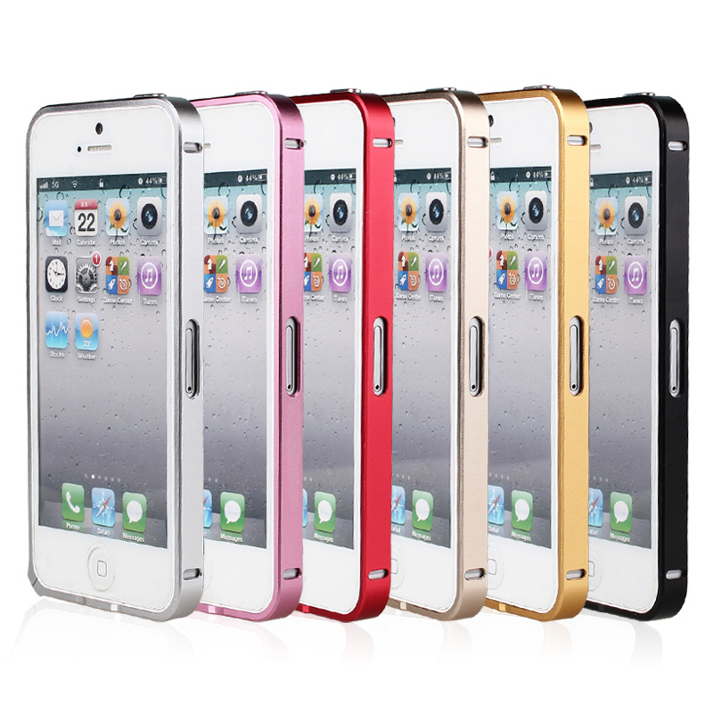 for Apple iphone 5 Ultra thin Metal Aluminum Alloy Frame Cover Bumper Case Slim Anti-knock Cellphone Cases for iphone 5,5s(China (Mainland))