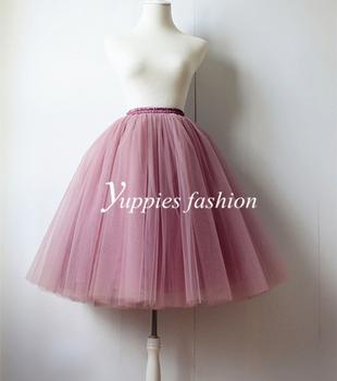 5 слоя макси долго тюль юбки летний стиль миди юбки плиссе женщин взрослый Faldas ...