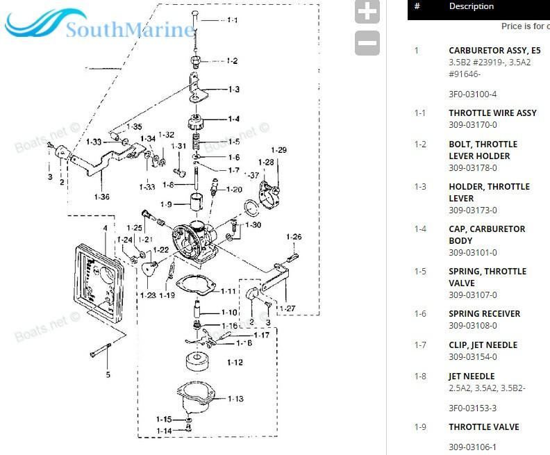 Find 823040A4 823040T06 Outboard Engine Carburetor for