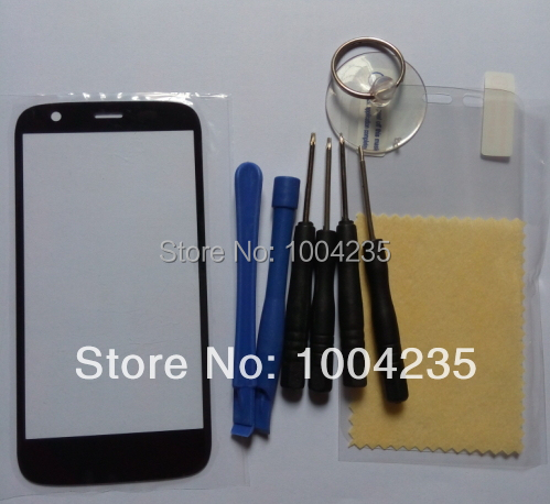 Brand new Repair Part Black Front Outer Glass Lens outter Panel For Motorola moto G xt1032 xt1033 + film +tools, free shipping
