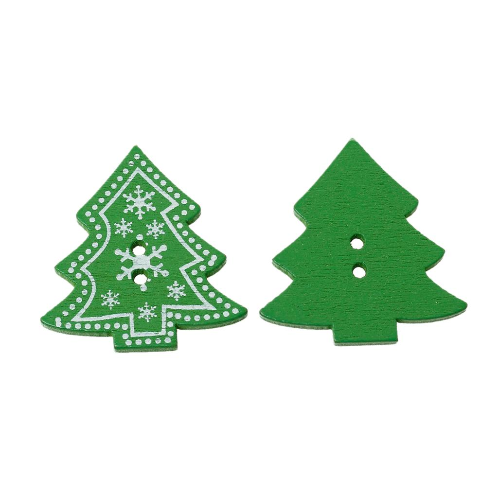"Гаджет  Wood Sewing Button Scrapbooking Christmas tree Green 2 Holes Snowflake Pattern 3.2cm(1 2/8"")x 3.0cm(1 1/8""),5 PCs 2015 new None Дом и Сад"