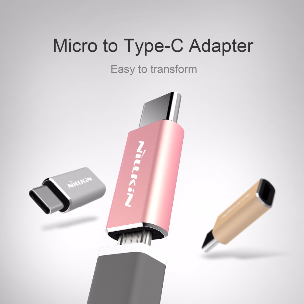 Nillkin USB 2.0 Metal Type C Type-C to Android Micro USB Converter Adapter For Xiaomi mi5 OnePlus Two 2 Nexus 5X 6P meizu M10 P9(China (Mainland))