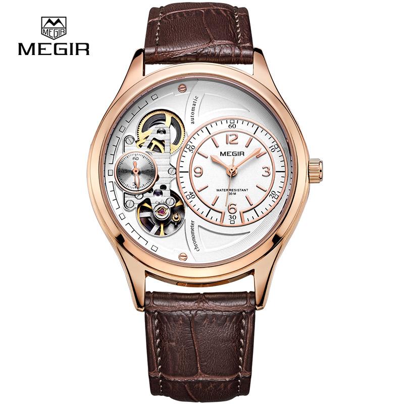 MEGIR 2017 hot brand waterproof quartz watch man fashion leather strap wristwatches men casual male masculino relojes watch hour(China (Mainland))