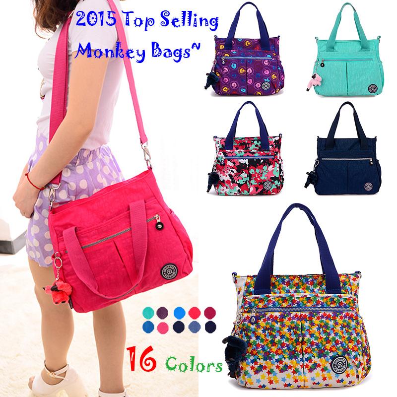 2015 Special Offer Fashion Waterproof Nylon Shoulder Bag Monkey Kip Style Quality Messenger Crossbody Bags for Women Handbags(China (Mainland))