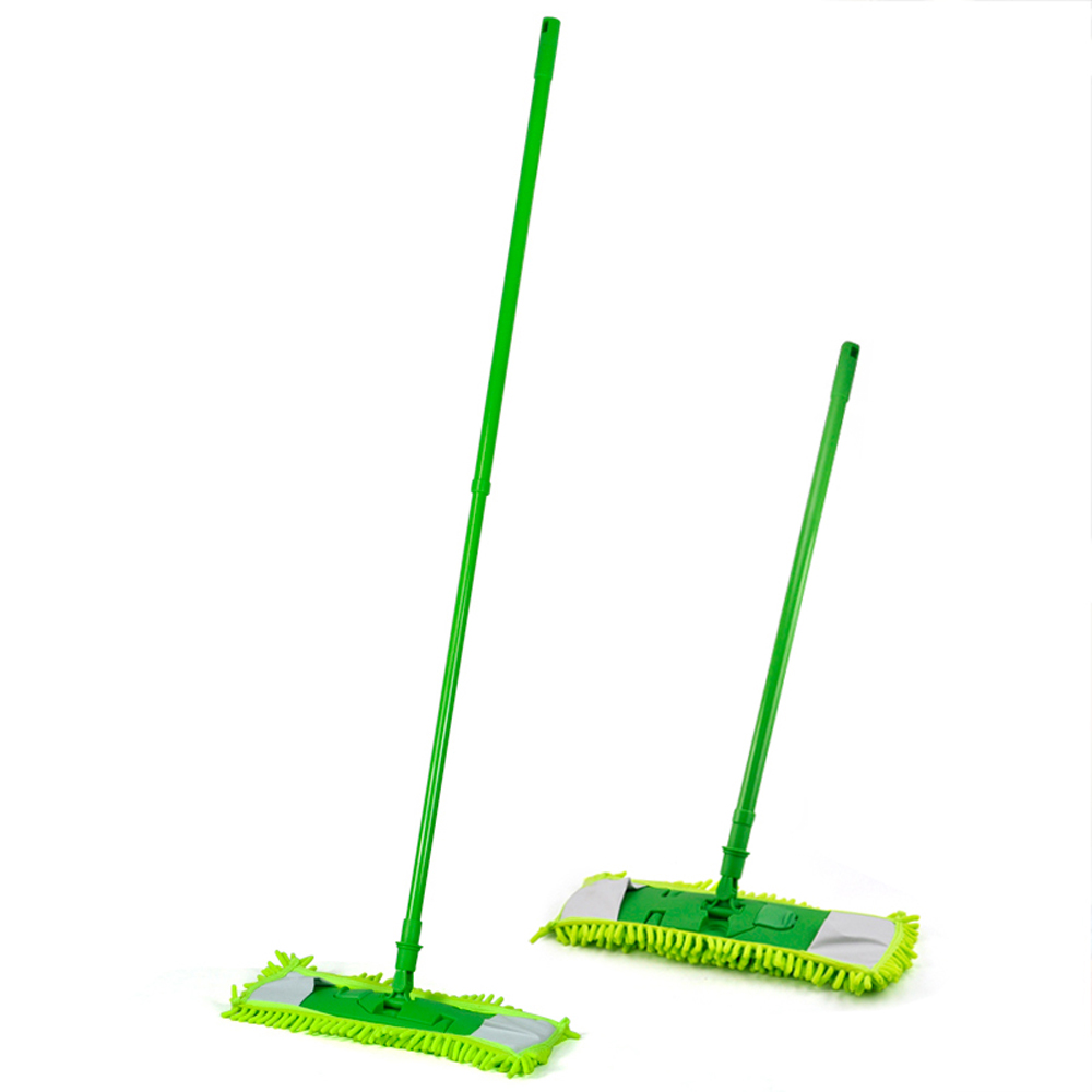 New Gift New Extendable Microfibre Mop Cleaner Sweeper Wet Dry - Green(China (Mainland))