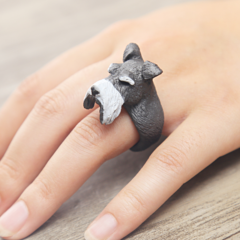 animal Wedding bend ring funny lady women 3D animal ring Hedgehog Ring Panda Dog Rings for women Tiger Lizard Bear Parrot(China (Mainland))