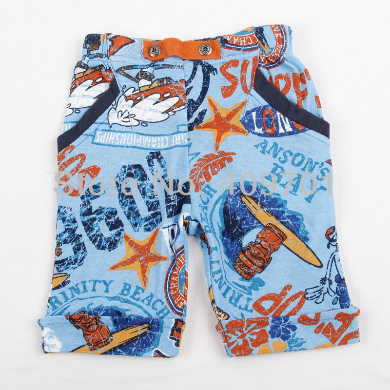 FREE SHIPPING D2719# 18m/6y 5pieces/lot 2013NEW hot childen clothing with cotton summerwear  beach shorts   for boys pants