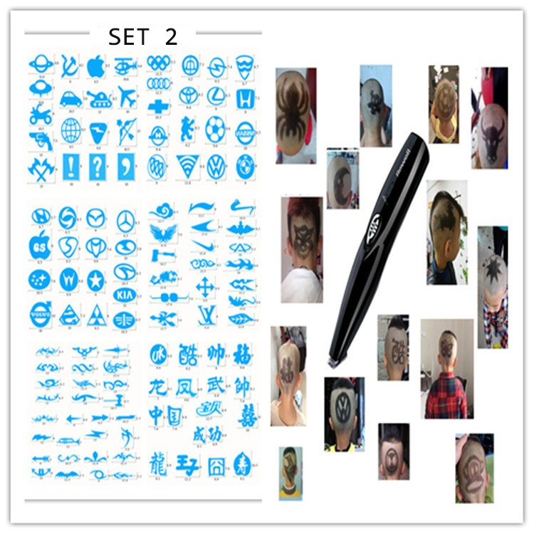 Hair Clipper Barber scissors carved carving tools  Rechargeable Hair Trimmer Adult Child modeling stencil lettering